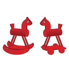 red toy horses vector image