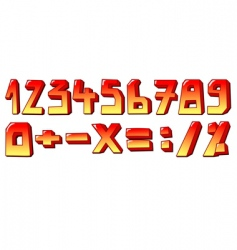 stylized numbers vector image vector image