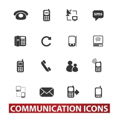 20 communication signs icons set vector image