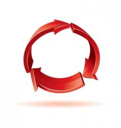 3d red arrows vector