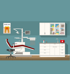 A dentist room vector
