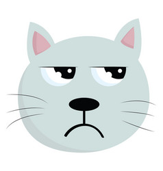 a face an angry cat or color vector image