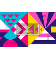 Abstract geometric background with modern shape vector