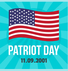 American patriot day on background flat style vector