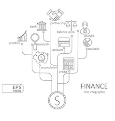 Banking and savings finance infographic vector