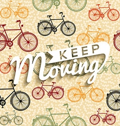 Bike typography poster bicycle concept text retro vector image