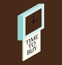 Black friday sale analog clock design vector