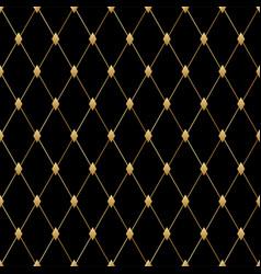 Black luxury seamless pattern art deco vector