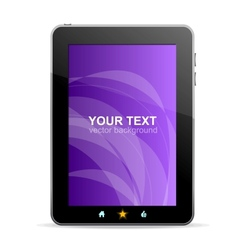 Black tablet like Ipade on white background vector image