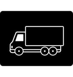 Black truck vector