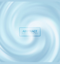 blue creamy swirling background vector image
