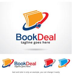 Book deal logo template vector