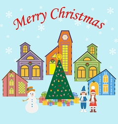 Christmas Village vector