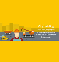 city building banner horizontal concept vector image