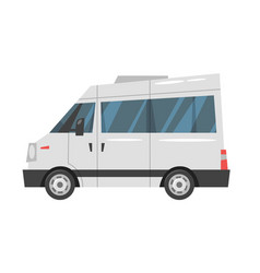 city transport - minibus vector image