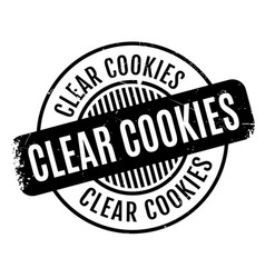 Clear cookies rubber stamp vector