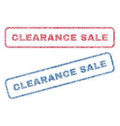 Clearance sale textile stamps vector