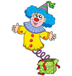 Clown from box vector