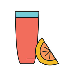 cocktail glass icon cartoon style vector image