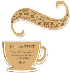 Coffee sticker vector