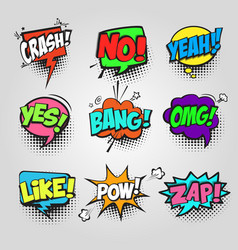 Comic bubble speech communication frame pop art vector