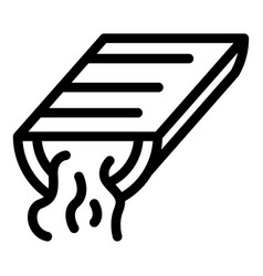 Construction gutter icon outline style vector
