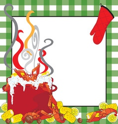 crawfish boil invitation vector image
