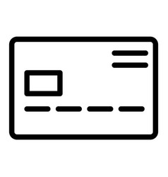 Credit card line icon pay vector