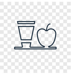 diet concept linear icon isolated on transparent vector image