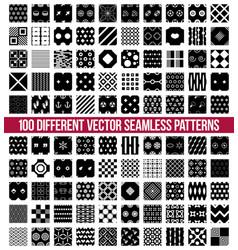 different ornamental geometric big pattern set vector image