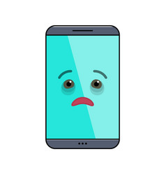 Diseased mobile phone isolated emoticon vector