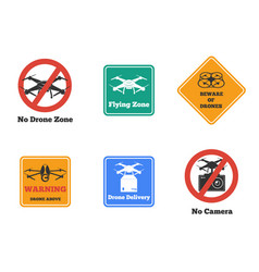 drone signs set vector image