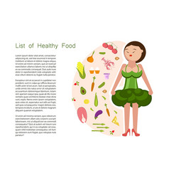 eating healthy idea and diet tips vector image