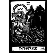 Empress Tarot Card vector