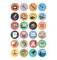 Flat Design Icons 4 vector image
