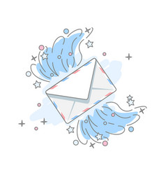 flat icon message vector image