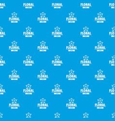 flower wedding pattern seamless blue vector image