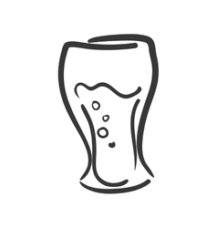 Glass icon Soda and drink design graphic vector image