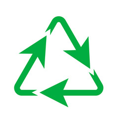 green recycling triangle icon environmental vector image