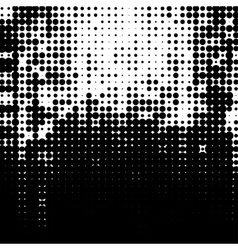 Grunge halftone dots texture background vector