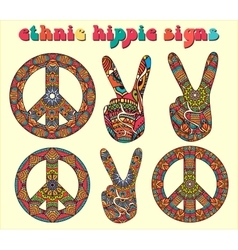 Hippie style-1 vector