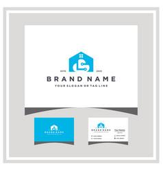 Home cloud tech tech logo design and business card vector