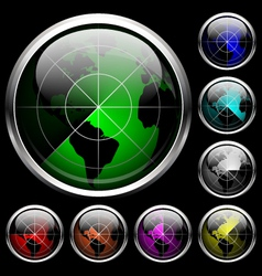 Icon radar vector image