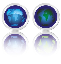 icons of blue planet earth vector image