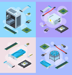 isometric electronic devices concept vector image