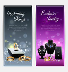 Jewelry Realistic Banners vector image vector image