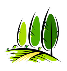 landscape design and agriculture vector image