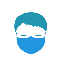 man with facemask vector image