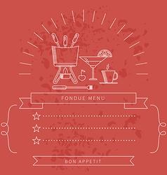 Menu template fondue vector image