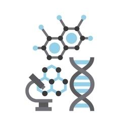 Microscope laboratory scientific line icons vector